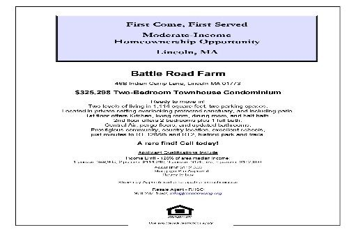 Battle Road Farm Flyer 46B