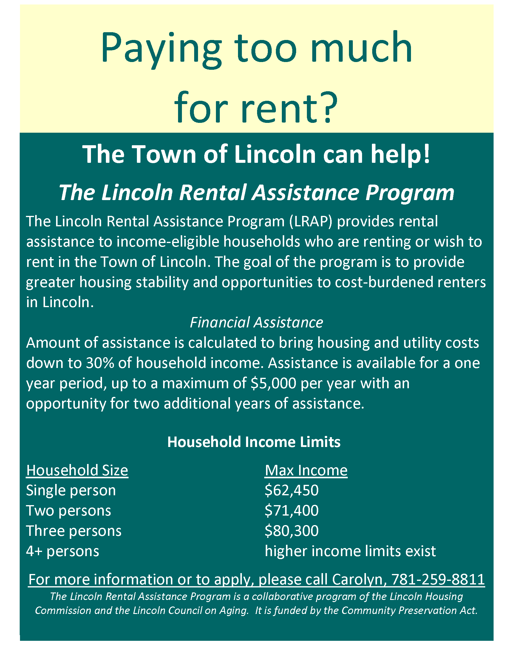 Rental Assistance Flyer